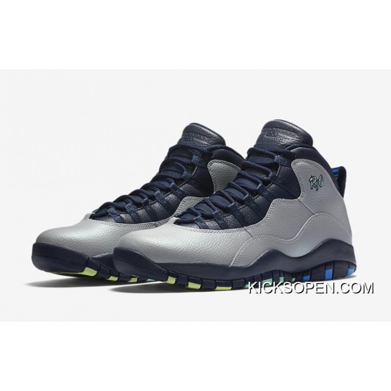 "100% authentic 10721 7a36d ... Latest Air Jordan 10 ""Rio"" Wolf Grey Photo Blue-Obsidian-Green ..."