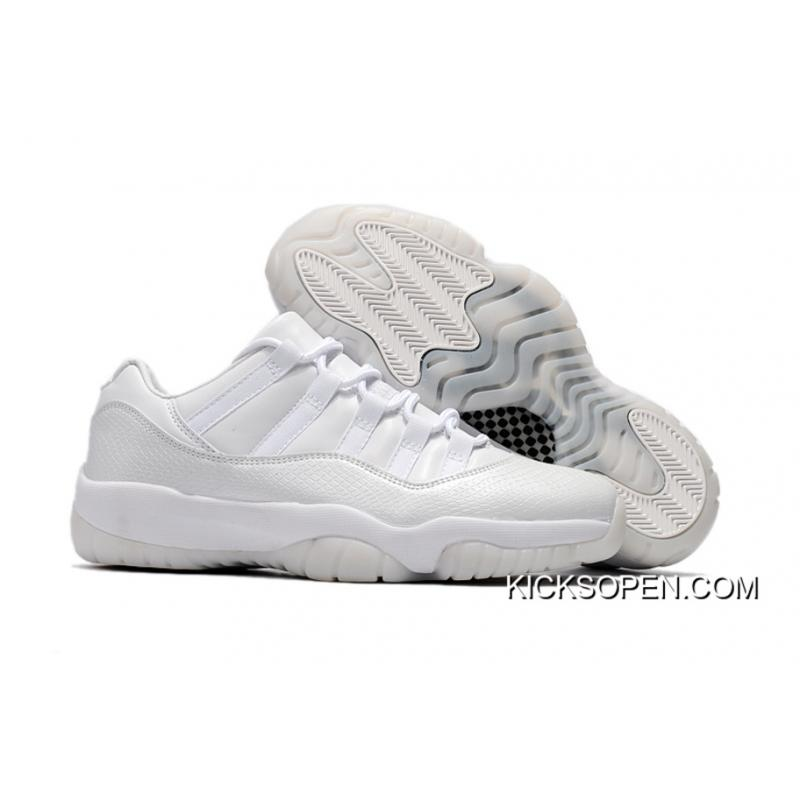 "the latest be45f 56176 Air Jordan 11 Low ""Frost White"" White/White-Pure Platinum Latest"