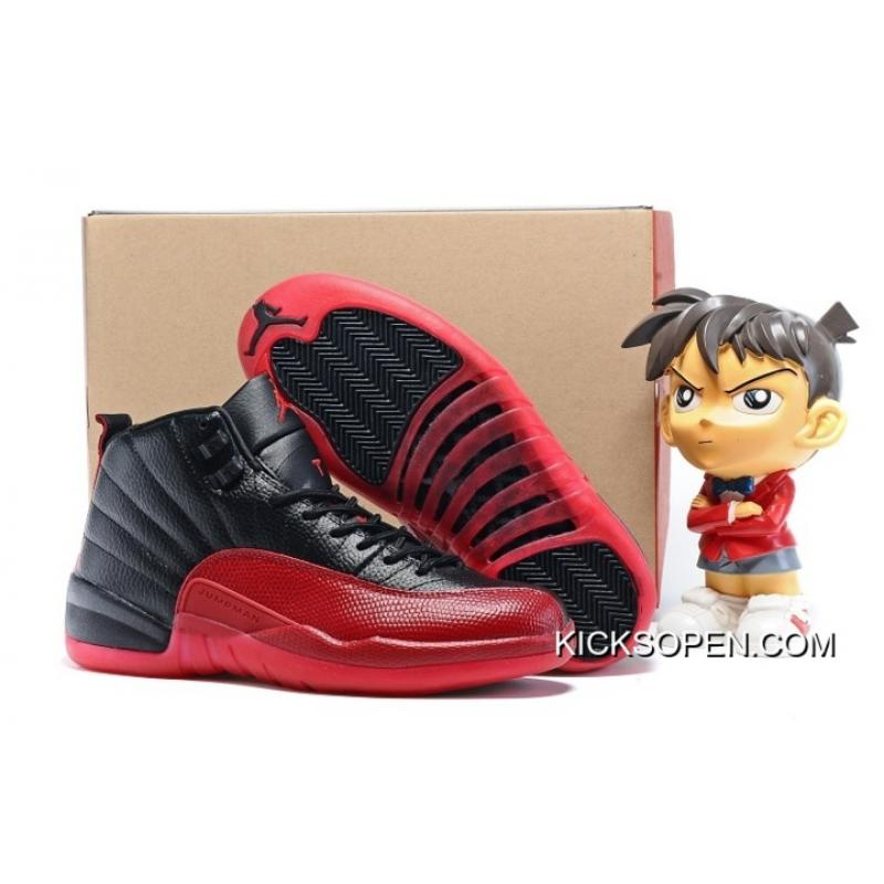 "check out 3faf4 265a6 Air Jordan 12 ""Flu Game"" Black Varsity Red New Year Deals ..."