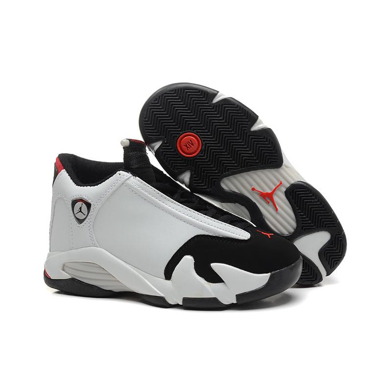 "6b790c8d01f Air Jordan 14 ""Black Toe"" White/Black-Varsity Red-Metallic Silver ..."