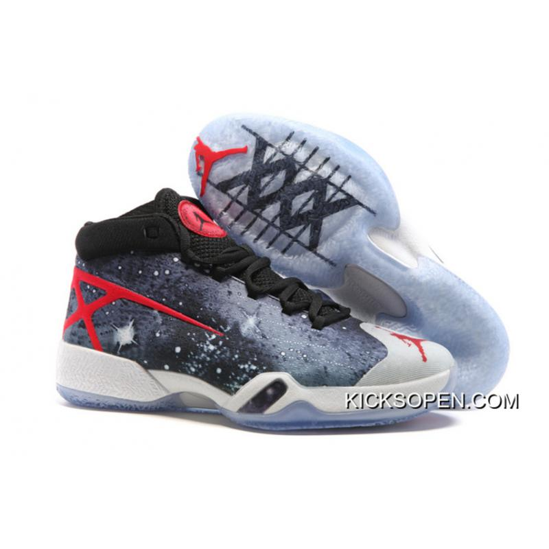 5de52a762096e New Release New Air Jordan 30 XXX JBC Galaxy Black-Grey-Red, Price ...