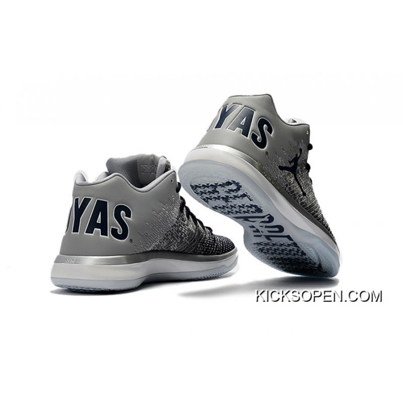 """d94f6e7f842c05 ... Air Jordan XXXI Low """"Georgetown"""" Wolf Grey College Navy-White For Sale  ..."""