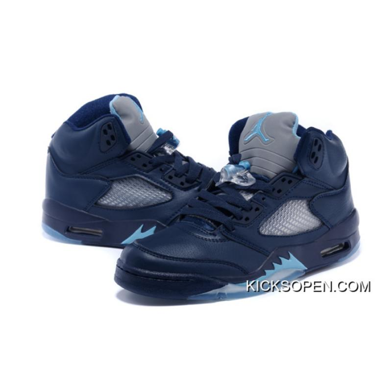 "33d66347ca564d ... Top Deals Air Jordan 5 ""Hornets"" Midnight Navy Turquoise Blue-White ..."