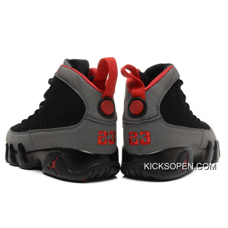 1be864f4e68 New Air Jordan 9 Charcoal Black Charcoal Red New Year Deals, Price ...