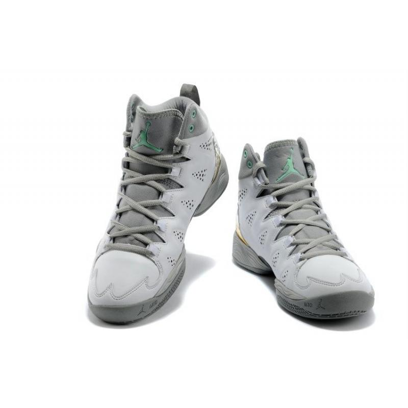 ... New Jordan Melo M10 White Gray Custom Latest ...
