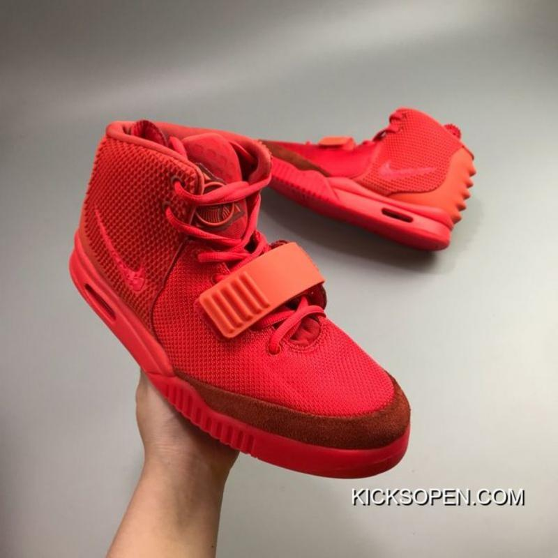 ce3a94dd8014f Super Deals Men Kanye West X Nike Air Yeezy II NRG Red October ...