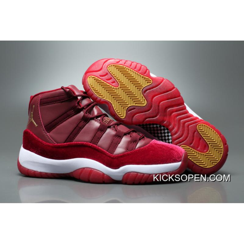 b705f18f7e0 ... coupon code for air jordan 11 gs velvet heiress night maroon metallic  gold night maroon a0aea