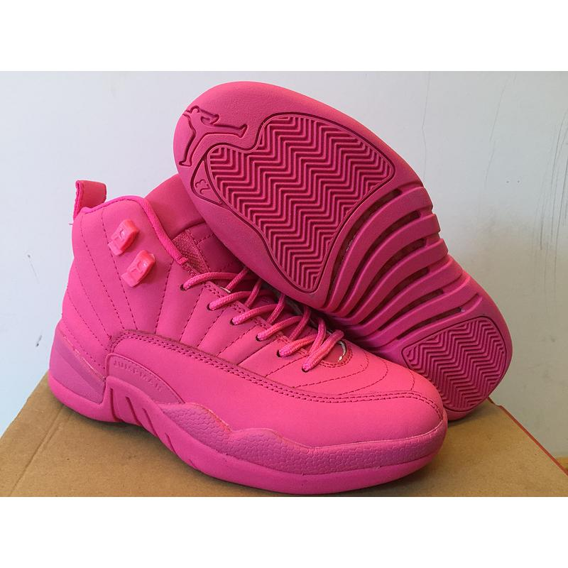 9192d67e4af Discount New Air Jordan 12 GS All Pink Shoes, Price: $87.01 ...