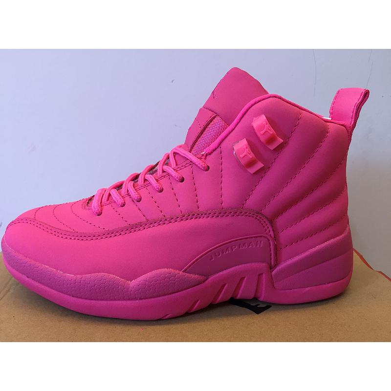 finest selection 4304d 2b1c5 ... Discount New Air Jordan 12 GS All Pink Shoes ...