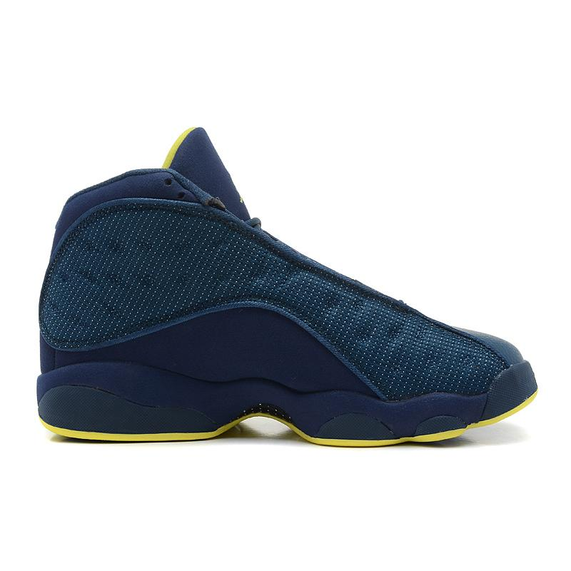 b4aff0a80892cb New Air Jordan 13 Retro Squadron Blue Electric Yellow-Black For Sale ...