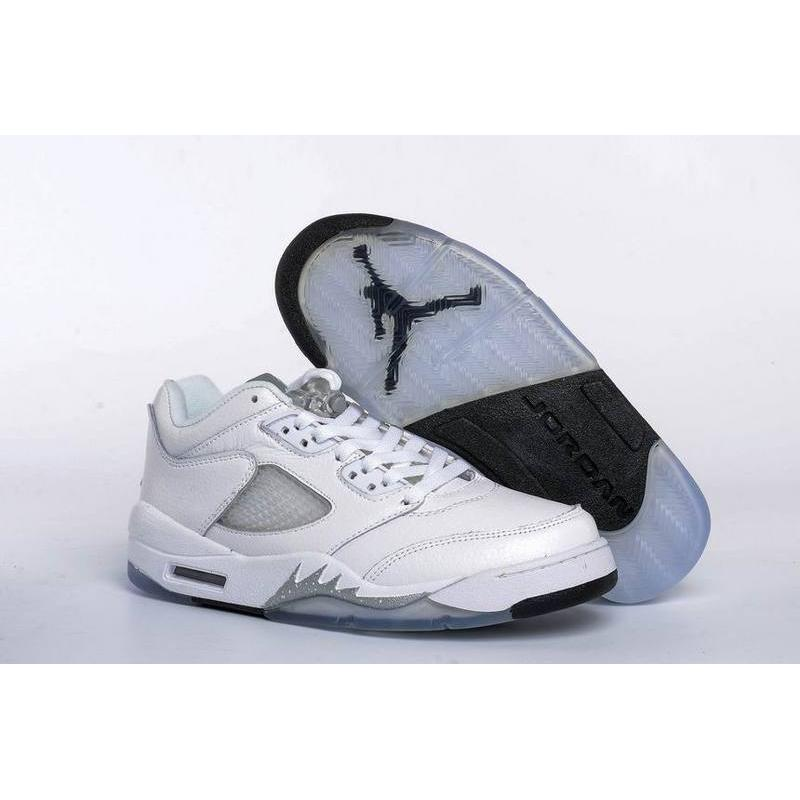 new style ce89c be4a0 Air Jordan 5 Low GS White Black-Wolf Grey New Year Deals ...
