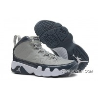 2d910fea86a773 New Air Jordan 9 Retro Medium Grey Cool Grey-White Discount