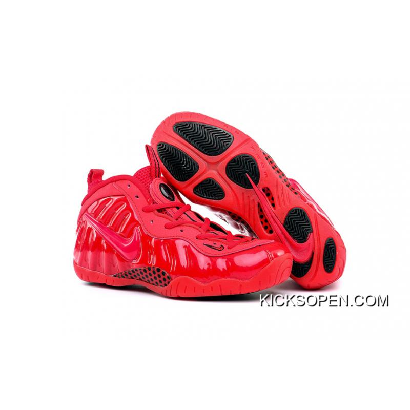 """c6e90bfe73002 Girls Nike Air Foamposite Pro GS """"Gym Red"""" New Year Deals ..."""