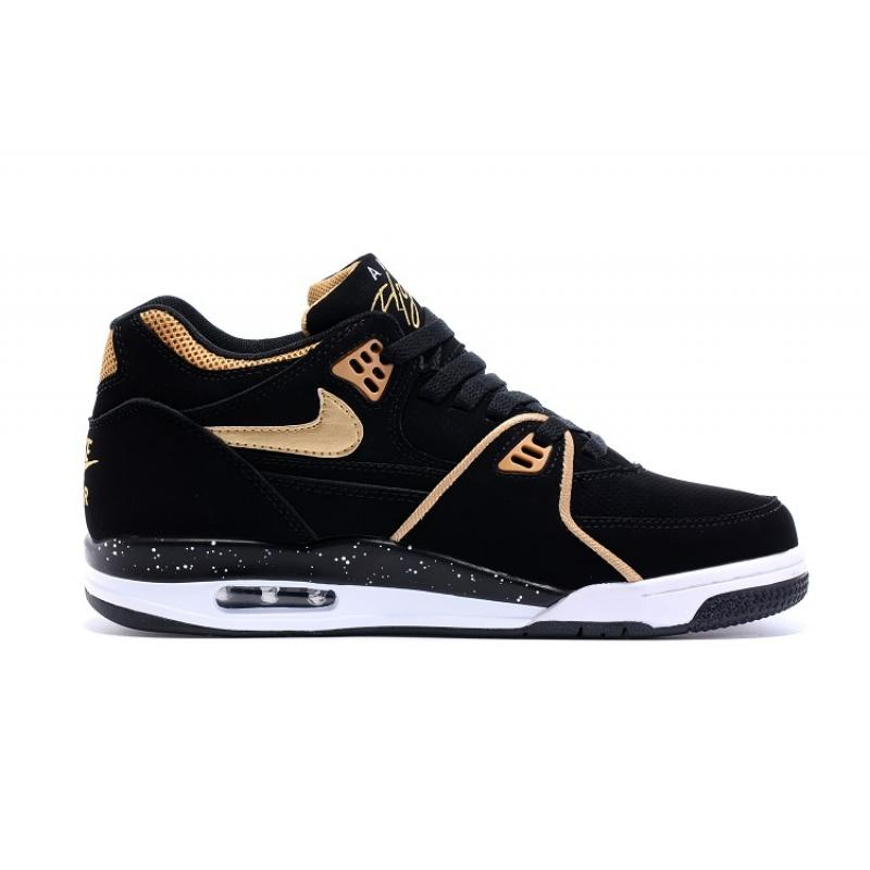 34bd8cb3dffcd ... Nike Air Flight  89 Black Metallic Bronze-White Shoes New Release ...