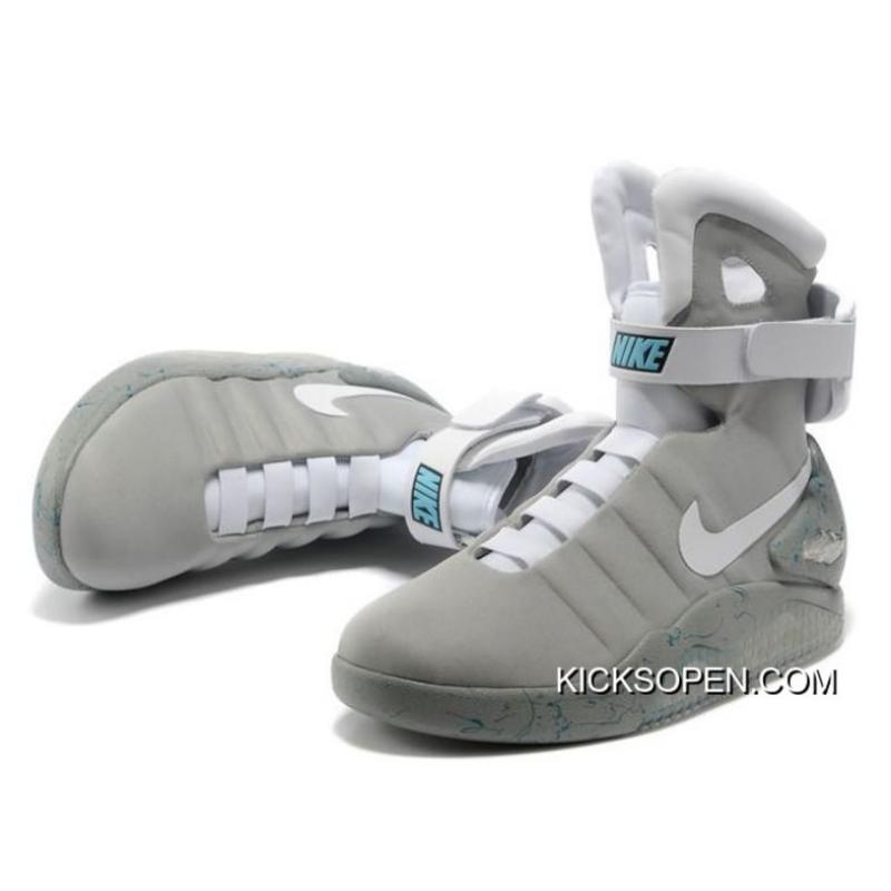 on sale 7db39 fc36c ... Free Shipping Nike Air Mag Back To The Future II Marty McFly Grey ...