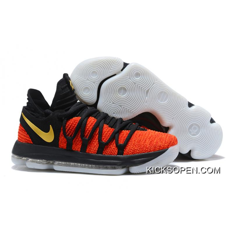 Nike KD 10 Black Orange Gold New Style ... 8db51a5afe
