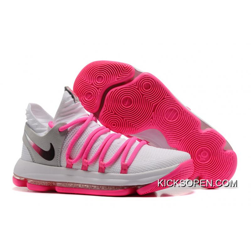 60e7533baa2 Latest Nike KD 10 White Pink Grey, Price: $89.40 - Sneakers, Shoes ...