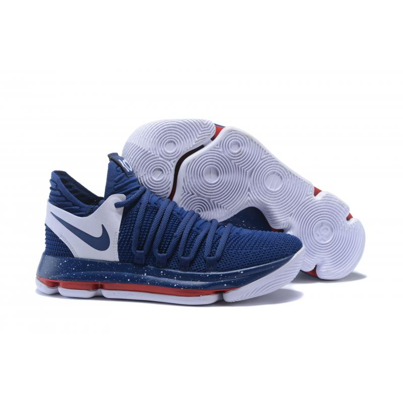 ed98d9b4618 ... discount code for new year deals nike kd 10 navy blue white red 38264  0d80c