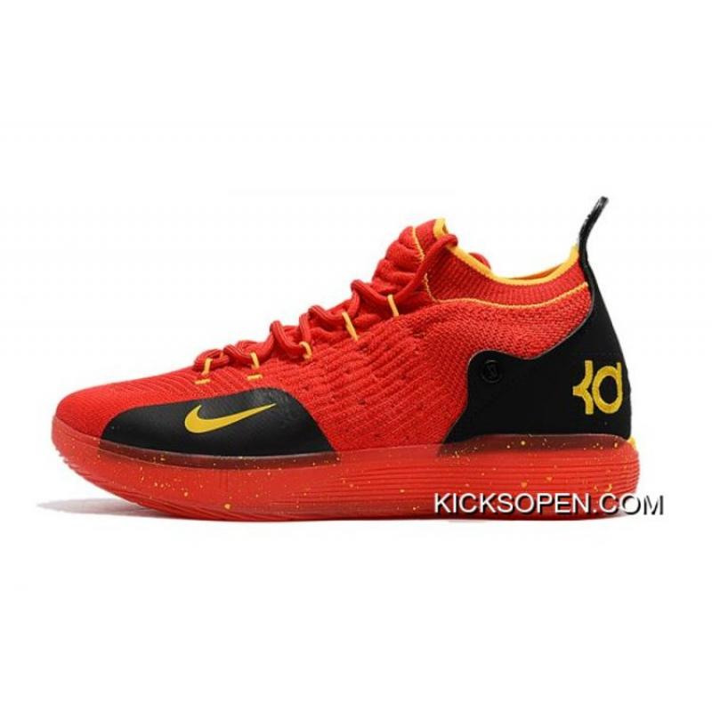 online store 860b0 ea8ad Top Deals Men s Nike KD 11 University Red Black-Yellow Basketball Shoes ...