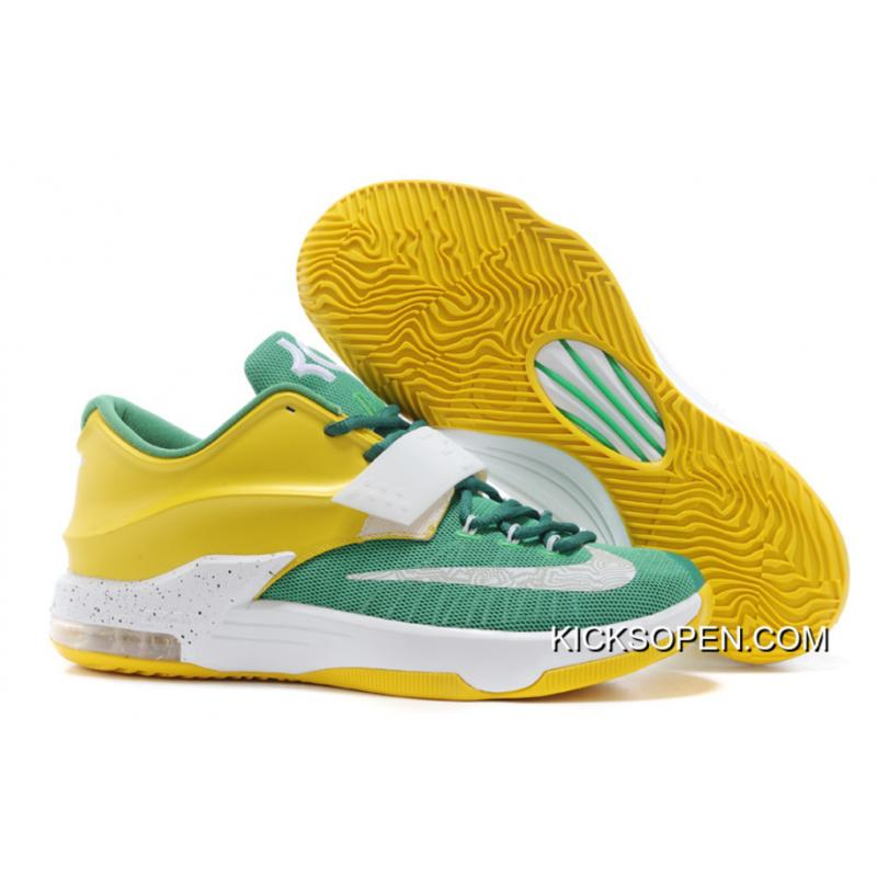 """99a78c26234 Nike Kevin Durant KD 7 VII """"Draft Day"""" Apple Green/Yellow Strike- ..."""