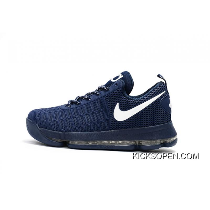 a61309e19a65a ... release date new style nike kd 9 dark blue white basketball shoes 04a53  e019f