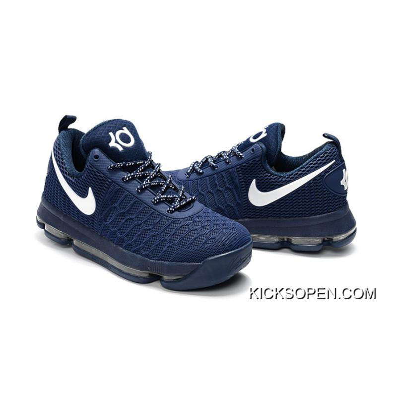 huge discount 69a7c 90e25 release date new style nike kd 9 dark blue white basketball shoes 9e87a  b812f