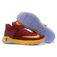 more photos a45d3 af9cd Nike KD Trey 5 Knit Wine Red Yellow New Release