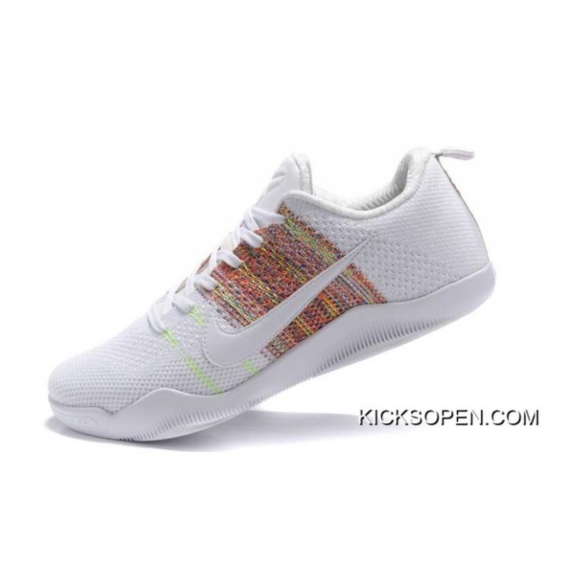 "4724a054e8cb ... Nike Kobe 11 Elite ""4KB"" White Horse Multicolor Latest"