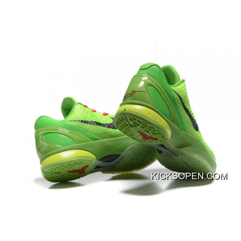 sports shoes 6d2c6 8a5e8 ... reduced discount nike zoom kobe 6 grinch christmas green mamba  basketball shoes b8279 a7a41