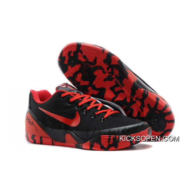 finest selection 24366 e542f ... promo code free shipping nike kobe 9 low em xdr black red ab010 70fb4