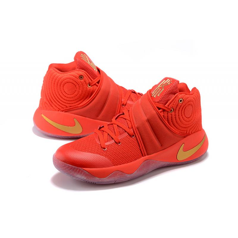 9ed1f37652e5 ... authentic nike kyrie 2 gold medal university red metallic gold outlet  69947 3bfec