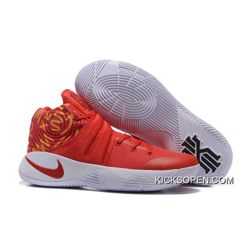 new concept 76295 6a43b Nike Kyrie 2 Red White Basketball Shoes Copuon ...