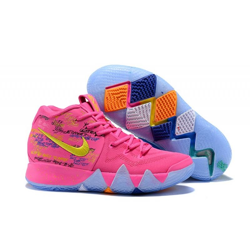 "huge discount c371a 55b77 Copuon Nike Kyrie 4 ""What The"" Pink/Teal Christmas"