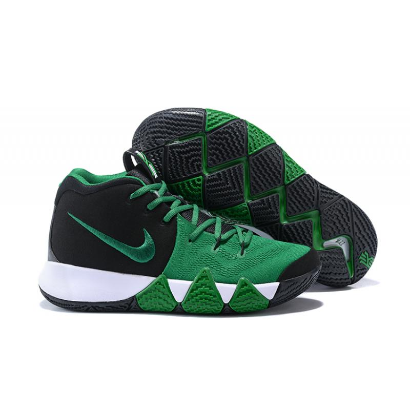 c3937425202a Nike Kyrie 4 Black Green-White New Style ...