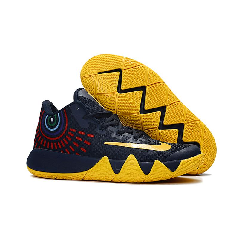 3c23a071298 Discount Nike Kyrie 4 Deep Blue Yellow ...
