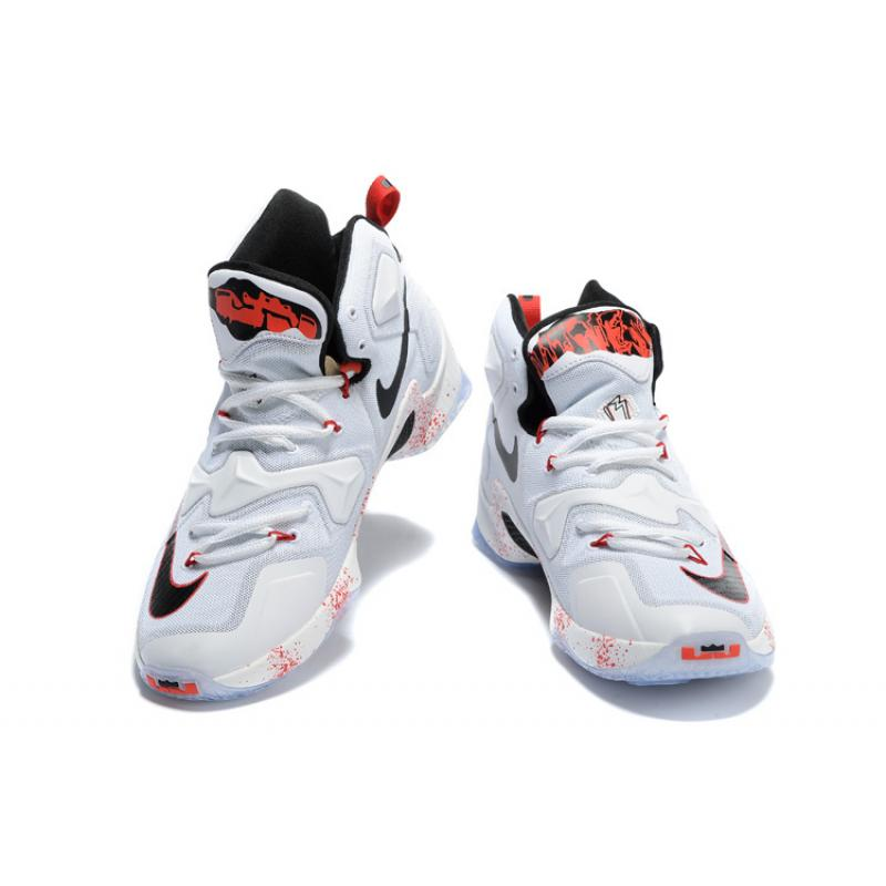 """2790f817f894ff ... New Year Deals Nike LeBron 13 """"Friday The 13th"""" White Black-University  ..."""