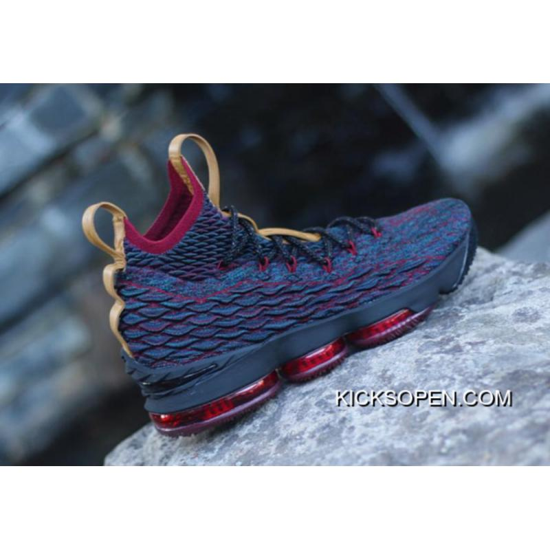 Nike LeBron 15  New Heights  Navy Blue And Wine Red Best ... b172a1e97