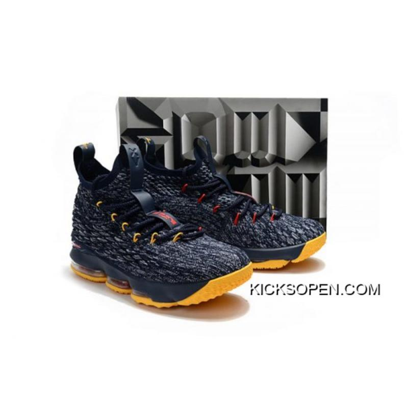 84d6c1f4bcbd34 Nike LeBron 15 Black And Yellow-Red New Style ...