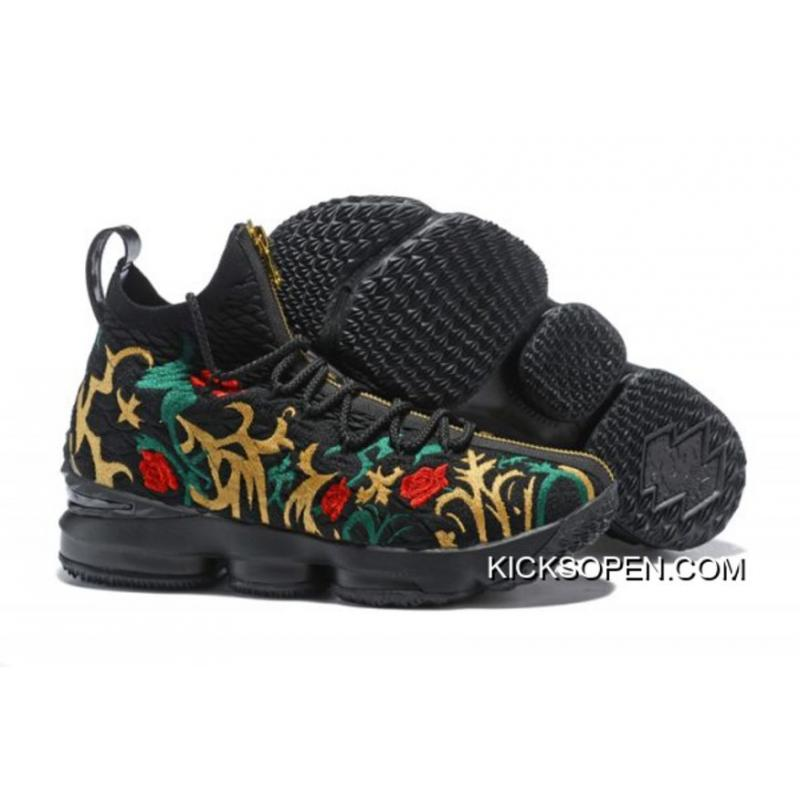 46e1f1ef5e6 Kith X Nike LeBron 15  Long Live The King  Black And Gold Discount ...