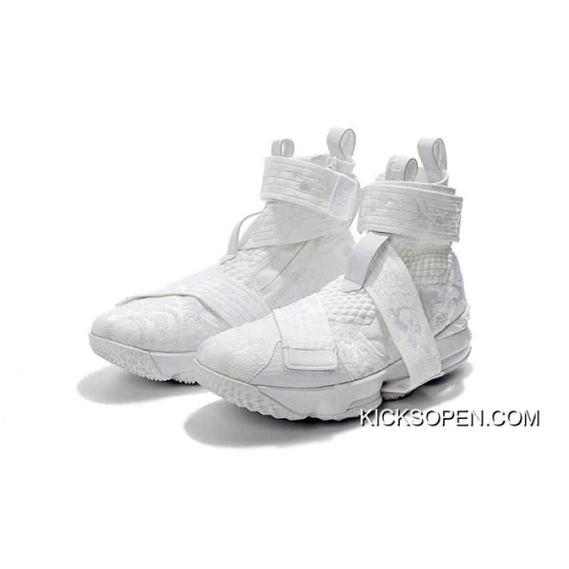 """c9e3a20655aac ... Best KITH X Nike LeBron 15 Lifestyle """"City Of Angels"""" Triple White ..."""