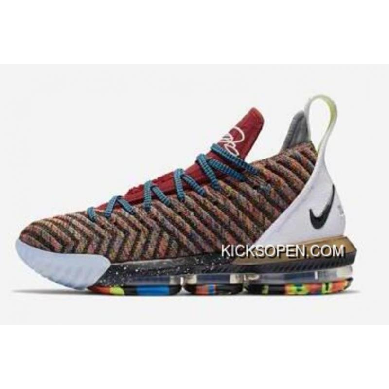 "9a8ab309070e What The Nike LeBron 16 ""1 Thru 5"" Multi-Color BQ6580-900 New ..."