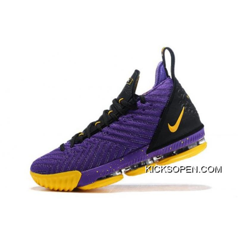"f058b2bf2df2c Nike LeBron 16 ""Lakers"" Purple/Black-Yellow Shoes Buy Now, Price ..."