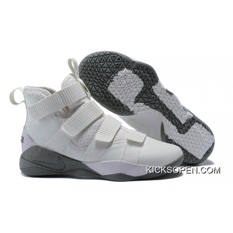 649fe6760864 Nike LeBron Soldier 11 SFG Light Bone Dark Stucco-Black Free Shipping ...