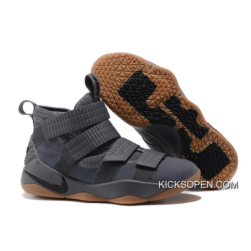 "a97a367f0c5 Latest Nike LeBron Soldier 11 ""Grey Gum"" ..."