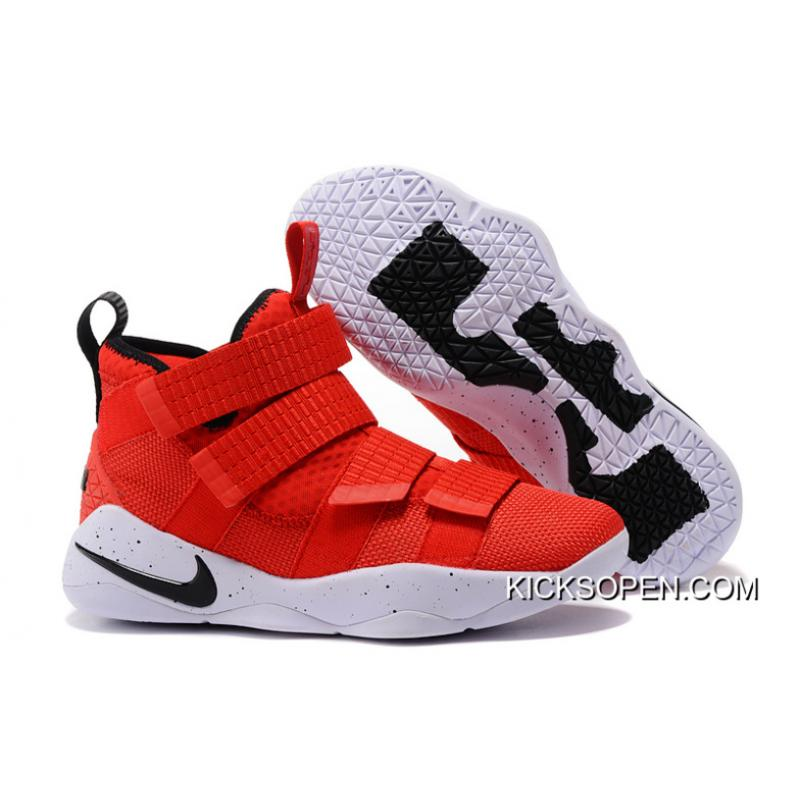 "0ed6b2cd9bae Top Deals Nike LeBron Soldier 11 ""University Red"" ..."