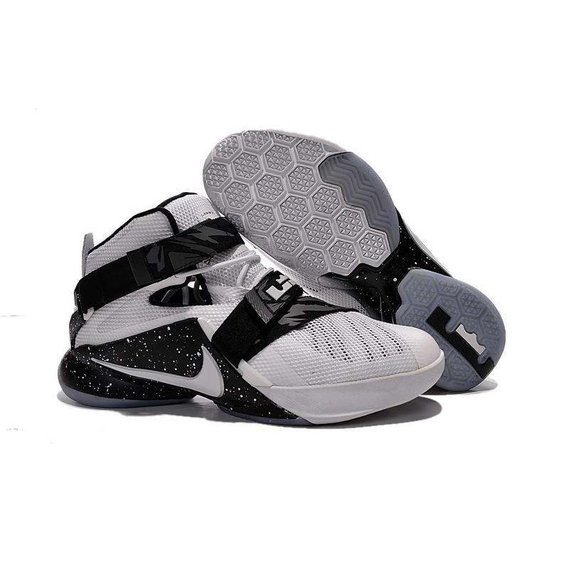 on sale 0efb7 ba081 Nike LeBron Soldier 9 White Black Basketball Shoe New Release ...