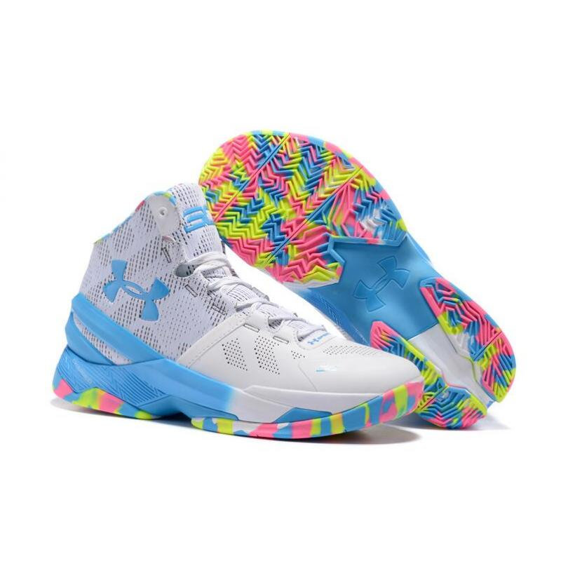 "2bf0cc048fb Discount Under Armour Curry 2 ""Birthday"" White Mojo Pink-Electric Blue ..."