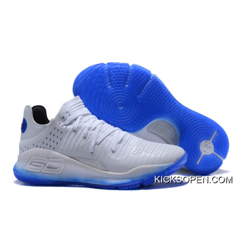 Outlet Under Armour Curry 4 Low White