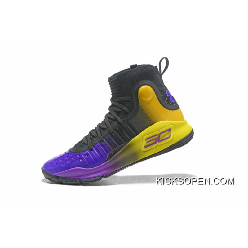 7a232278caf2 ... Super Deals Under Armour Curry 4 Black Purple Yellow ...