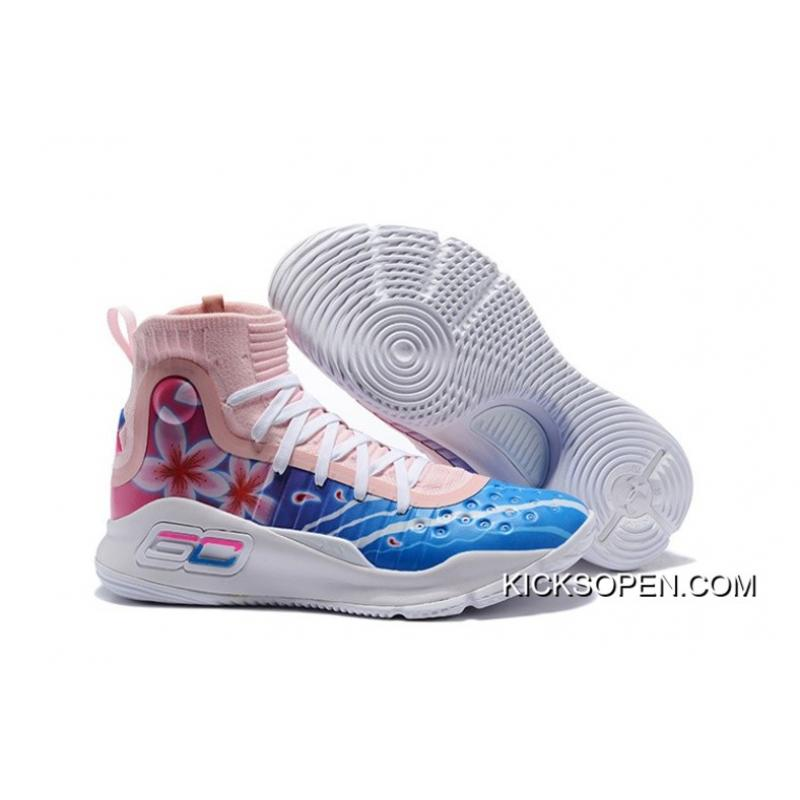 ab76424a47be73 ... switzerland online under armour curry 4 floral white pink blue 43413  a8e60